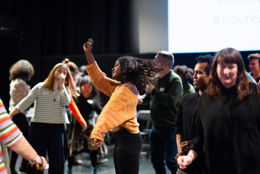 Image of members of the Co-Creating Change taking part in an in-person workshop in 2019